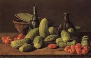 Luis Menendez Still Life with Cucumbers and Tomatoes oil painting picture wholesale