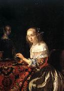 MIERIS, Frans van, the Elder The Lacemaker oil painting picture wholesale