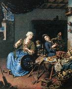 MIERIS, Willem van The Spinner oil painting picture wholesale