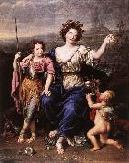 MIGNARD, Pierre The Marquise de Seignelay and Two of her Children oil painting artist