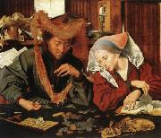 Marinus van Reymerswaele The Moneychanger and His Wife oil painting artist