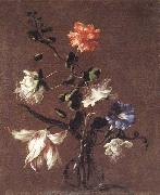 Mario Dei Fiori Theee Caper Flower,a Carnation,a Bindweed,and a Tulip oil painting artist