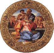 Michelangelo Buonarroti The Holy Family with the Young St.John the Baptist oil painting artist