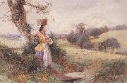 Myles Birket Foster,RWS The Milkmaid oil painting picture wholesale