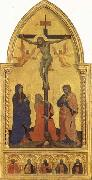 Nardo di Cione Crucifixion Scene with Mourners SS.Jerome,James the Lesser,Paul,James the Greater,and Peter Martyr oil painting picture wholesale