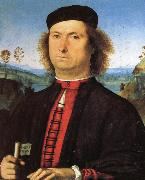PERUGINO, Pietro Portrait of Francesco delle Opere oil painting picture wholesale