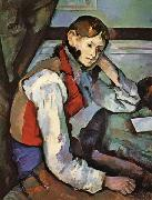 Paul Cezanne The Boy in the Red Waistcoat oil painting picture wholesale