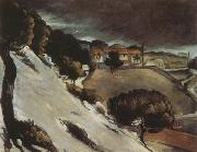 Paul Cezanne Snow Thaw in LEstaque oil painting picture wholesale