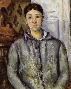 Paul Cezanne Madame Cezanne in Blue oil painting reproduction