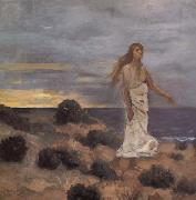 Pierre Puvis de Chavannes Mad Woman at the Edge of the Sea oil painting picture wholesale