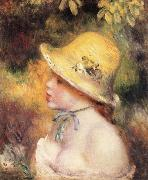 Pierre Renoir Young Girl in a Straw Hat oil painting picture wholesale