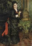 Pierre Renoir Woman with a Parrot(Henriette Darras) oil painting picture wholesale