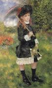 Pierre Renoir Girl with Parasol (Aline Nunes) oil painting picture wholesale
