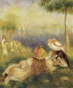 Pierre Renoir Young Girls at the Seaside oil painting picture wholesale