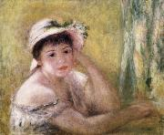 Pierre Renoir Woman with a Straw Hat oil painting picture wholesale