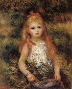 Pierre Renoir Girl with Flowers oil painting picture wholesale
