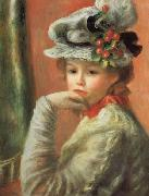 Pierre Renoir Young Girl in a White Hat oil painting picture wholesale