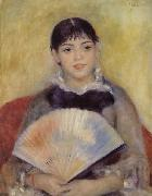 Pierre-Auguste Renoir Girl with a Fan oil painting picture wholesale