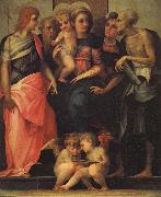 Rosso Fiorentino Madonna Enthroned with SS.John the Baptist,Anthony Abbot,Stephen,and Benedict oil painting picture wholesale