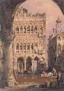Samuel Prout C'a d'Oro,Venice oil painting picture wholesale