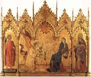 Simone Martini The Annunciation with SS.Ansanus and Margaret and Four Prophets oil painting picture wholesale