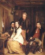 Sir David Wilkie The Refusal from Burns's Song of 'Duncan Gray' oil painting picture wholesale