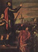 Titian The Exbortation of the Marquis del Vasto to His Troops oil painting picture wholesale