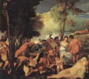 Titian Bacchanal oil painting picture wholesale