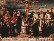 WOENSAM VON WORMS, Anton Christ on the Cross with Carthusian Saints oil painting picture wholesale