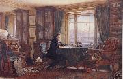 William Gershom Collingwood John Ruskin in his Study at Brantwood Cumbria oil