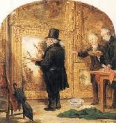 William Parrott J M W Turner at the Royal Academy,Varnishing Day oil painting artist