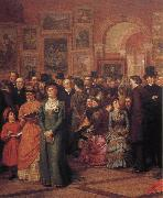 William Powell Frith The Private View of the Royal Academy oil painting picture wholesale