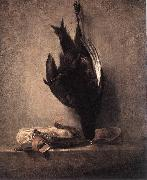 jean-Baptiste-Simeon Chardin Still-Life with Dead Pheasant and Hunting Bag oil painting picture wholesale