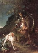 jean-Baptiste-Simeon Chardin Game Still-Life with Hunting Dog oil painting reproduction