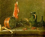 jean-Baptiste-Simeon Chardin A  Lean Diet with Cooking Utensils oil painting picture wholesale