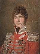 unknow artist Portrait of an officer,half-length,wearing a red coat and the swedish military order of the sword oil painting picture wholesale
