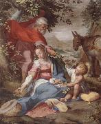 unknow artist The rest on the flight into egypt oil painting picture wholesale