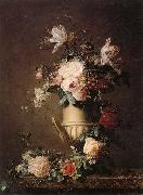 unknow artist A Still life of various flowers in a sculpted urn,resting on a marble-topped table oil painting picture wholesale