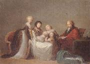 unknow artist A group portrait,reputed to be the singer elleviou and his family oil painting picture wholesale