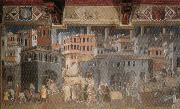 Ambrogio Lorenzetti Effects of Good Government in the City oil