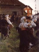 Anders Zorn Midsummer dance oil painting picture wholesale
