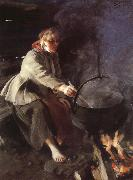 Anders Zorn In the Cookhouse oil painting picture wholesale