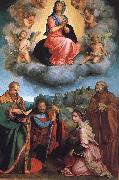 Andrea del Sarto Virgin with Four Saints oil painting picture wholesale