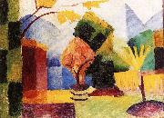 August Macke Garten am Thuner See oil