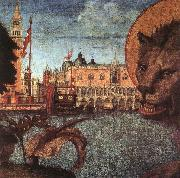 CARPACCIO, Vittore The Lion of St Mark (detail) oil painting picture wholesale