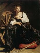 Caravaggio Saint Catherine oil painting picture wholesale