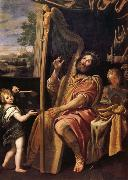 Domenichino Le Roi David jouant de la harpe oil painting picture wholesale
