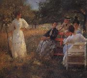 Edmund Charles Tarbell In the Orchard oil