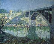 Ernest Lawson Spring Night,Harlem River oil painting artist