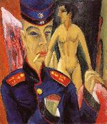 Ernst Ludwig Kirchner Selbstbildnis als Soldat oil painting picture wholesale